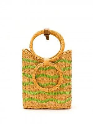 Плетеная сумка-тоут SERPUI. Цвет: нейтральные цвета