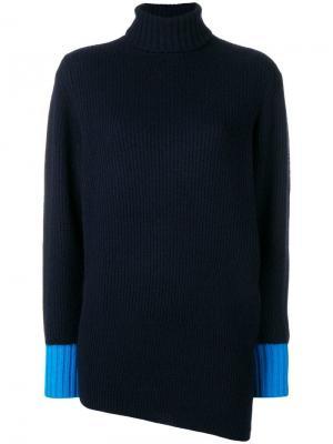 Cashmere turtleneck asymmetric sweater Sportmax. Цвет: синий