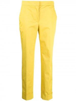Укороченные брюки строгого кроя Pt01. Цвет: желтый