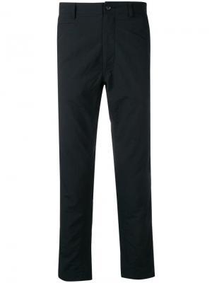 Прямые брюки Nanamica. Цвет: черный