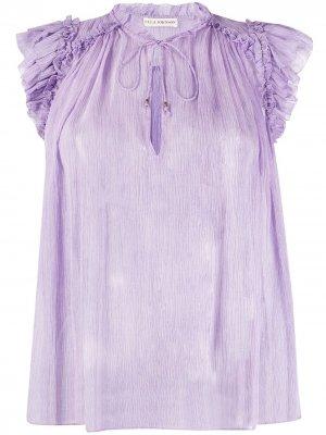 Блузка Clea с жатым эффектом Ulla Johnson. Цвет: фиолетовый