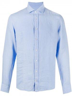 Рубашка с длинными рукавами Hackett. Цвет: синий