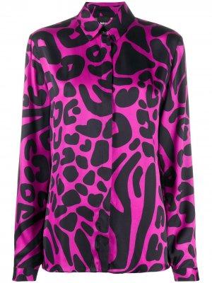 Рубашка с геометричным принтом Just Cavalli. Цвет: розовый