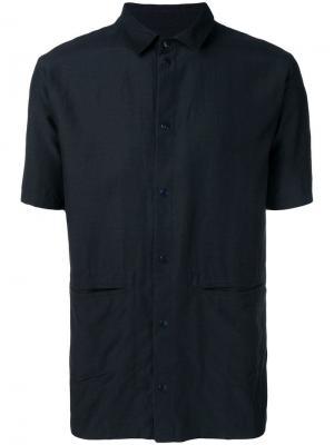 Pointed collar shirt Folk. Цвет: синий