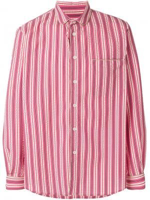 Рубашка в пижамном стиле Henrik Vibskov. Цвет: розовый