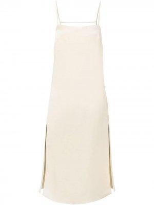 Платье Gabi с цепочками Nicholas. Цвет: белый