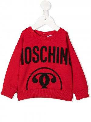 Джемпер с логотипом Moschino Kids. Цвет: красный