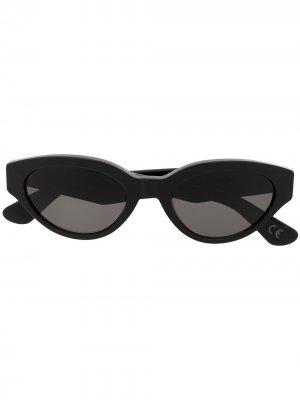 Солнцезащитные очки Drew в оправе кошачий глаз Retrosuperfuture. Цвет: черный