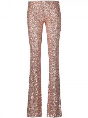 Расклешенные брюки с пайетками Alchemy. Цвет: розовый