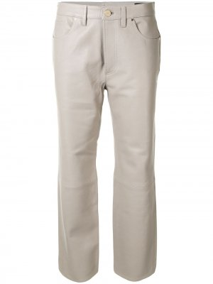 Укороченные брюки GOLDSIGN. Цвет: серый