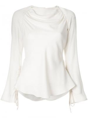 Драпированная блузка с баской Marni. Цвет: нейтральные цвета
