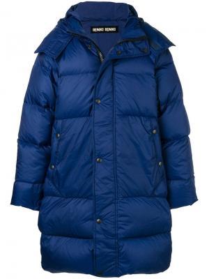 Утепленная куртка модели оверсайз Ienki. Цвет: синий