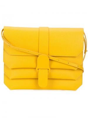 Классическая сумка с цепочкой Senreve. Цвет: желтый