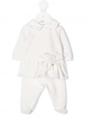 Костюм с оборками Le Bebé Enfant. Цвет: белый
