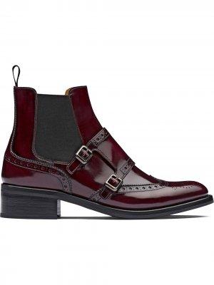 Churchs ботинки челси Stella с брогированием Church's. Цвет: красный