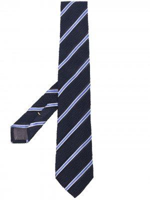 Полосатый галстук Canali. Цвет: синий
