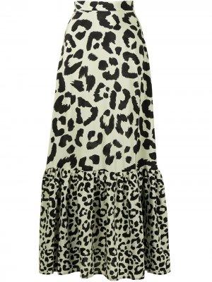 Юбка макси с леопардовым принтом Être Cécile. Цвет: разноцветный