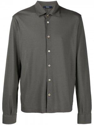 Рубашка на пуговицах Herno. Цвет: серый