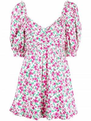 Платье с цветочным принтом For Love And Lemons. Цвет: белый
