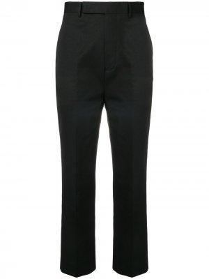 Укороченные брюки со складками Rick Owens. Цвет: черный