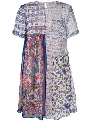 Расклешенное платье Dina Dahlia Liberty London. Цвет: синий