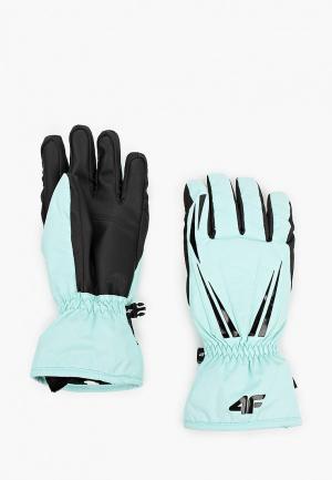 Перчатки 4F. Цвет: бирюзовый