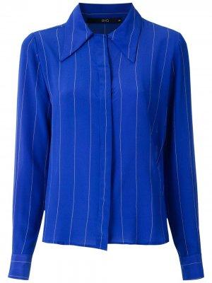 Рубашка в полоску Eva. Цвет: синий