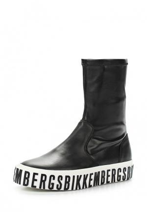 Полусапоги Bikkembergs. Цвет: черный