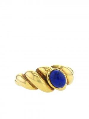Кольцо 1970-х годов из желтого золота с лазуритом Van Cleef & Arpels. Цвет: синий