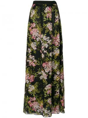 Длинная юбка с цветочным принтом Giambattista Valli. Цвет: разноцветный