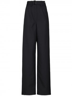 Широкие брюки с поясом Lemaire. Цвет: серый