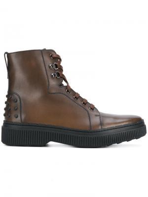 Ботинки-челси на шнуровке Tod's. Цвет: коричневый