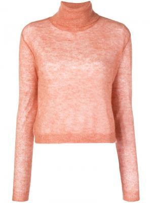 Boxy roll neck sweater Alysi. Цвет: розовый