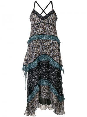 Платье с цветочным принтом Proenza Schouler. Цвет: разноцветный
