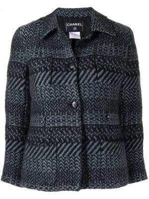 Жакет на пуговицах Chanel Pre-Owned. Цвет: синий