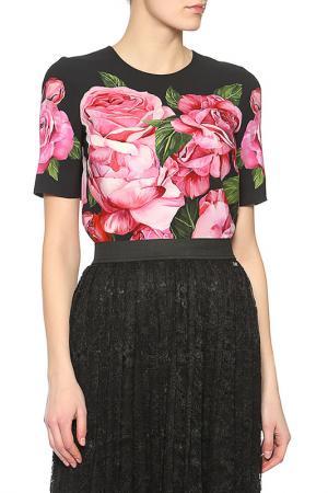 Блузка Dolce & Gabbana. Цвет: черный