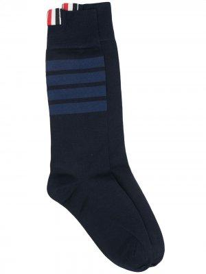 Носки с контрастными полосками Thom Browne. Цвет: синий