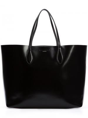 Классическая сумка-тоут Rochas. Цвет: черный