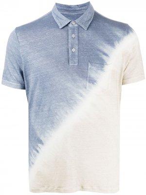 Рубашка поло с принтом тай-дай Altea. Цвет: синий