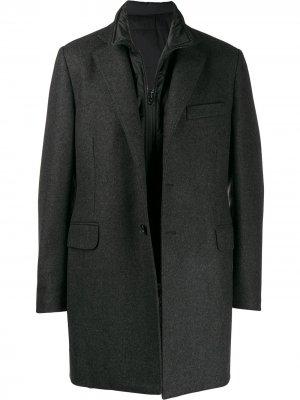 Многослойное пальто Fay. Цвет: черный