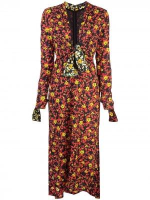 Платье Georgette с принтом Proenza Schouler. Цвет: poppy wildflower