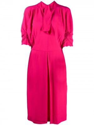 Платье с завязками и сборками на рукавах Marni. Цвет: розовый