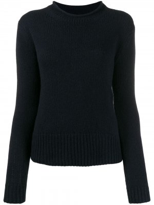 Приталенный свитер с длинными рукавами Ralph Lauren Collection. Цвет: синий