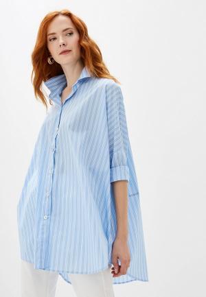 Блуза Massimiliano Bini. Цвет: голубой