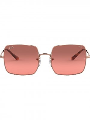 Солнцезащитные очки RB1971 в квадратной оправе Ray-Ban. Цвет: розовый