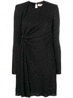 Gathered glittered dres Saint Laurent. Цвет: черный