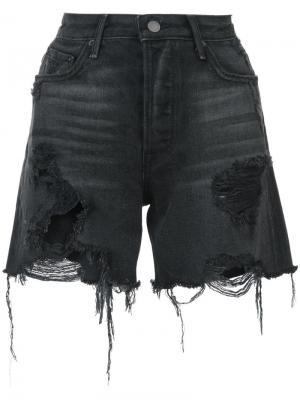 Джинсовые шорты с необработанными краями Grlfrnd. Цвет: черный