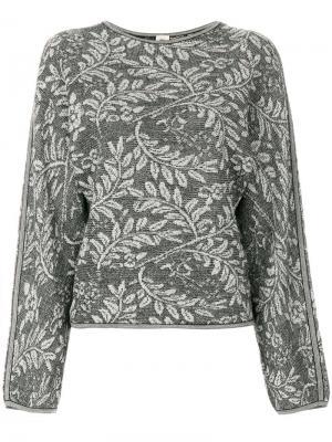 Трикотажная блузка с узором Emanuel Ungaro Pre-Owned. Цвет: черный