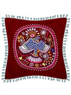 Декоративная подушка с вышивкой и кисточками La Doublej. Цвет: красный