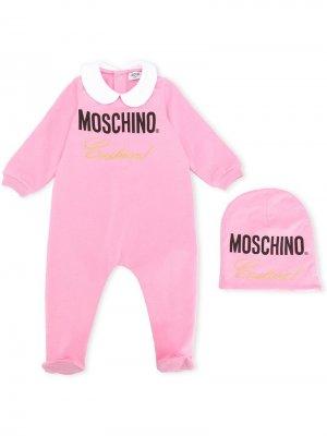 Комплект для новорожденного Moschino Kids. Цвет: розовый